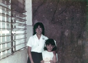 With my ever supportive Ate in one of my grade school recognition day.